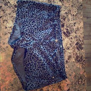 Cheetah denim shorts, size 20.